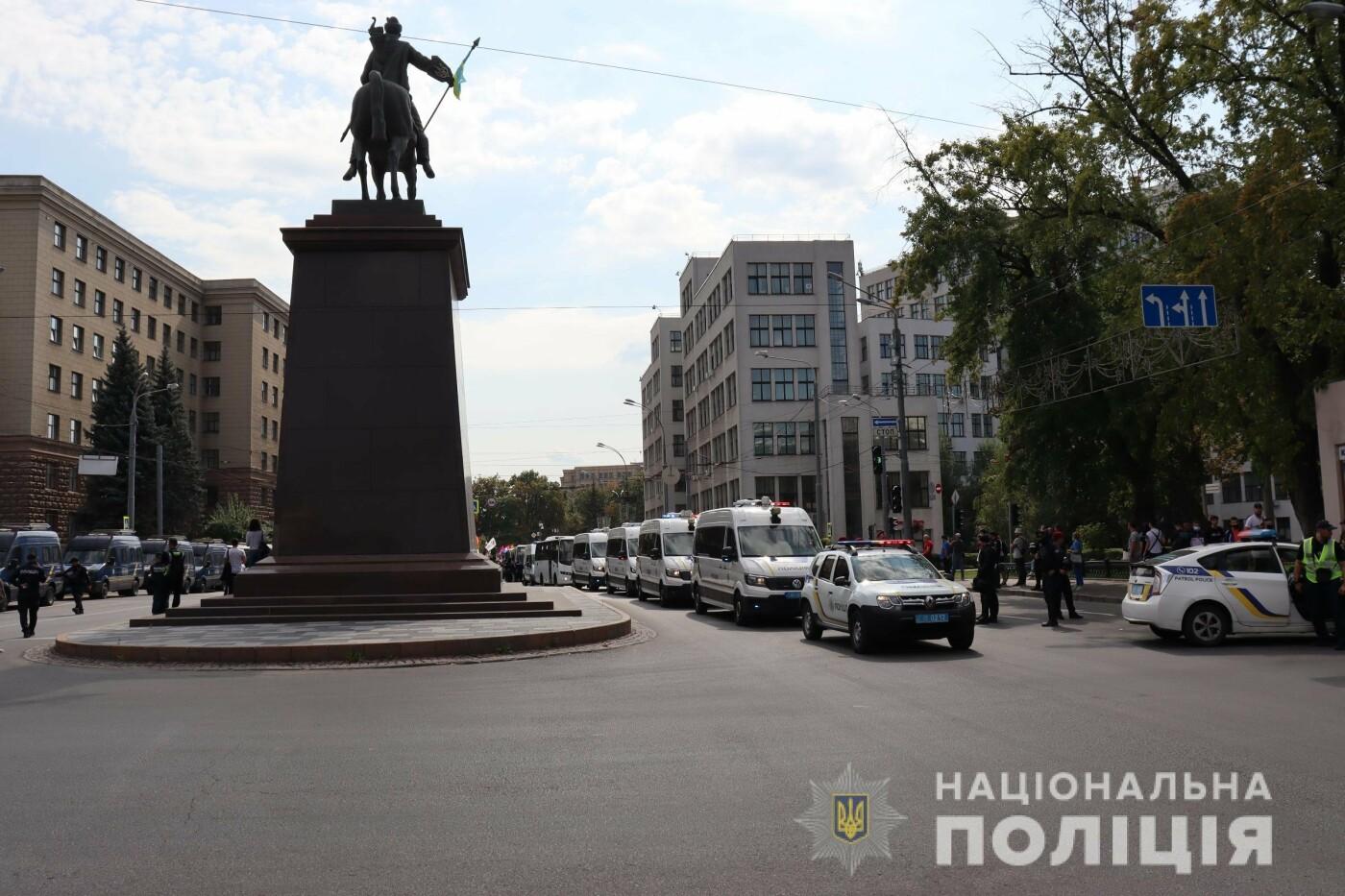 ЛГБТ-марш в центре Харькова: участников события охраняли более 1,2 тысячи силовиков с 40 единицами спецтехники, - ФОТО, фото-1