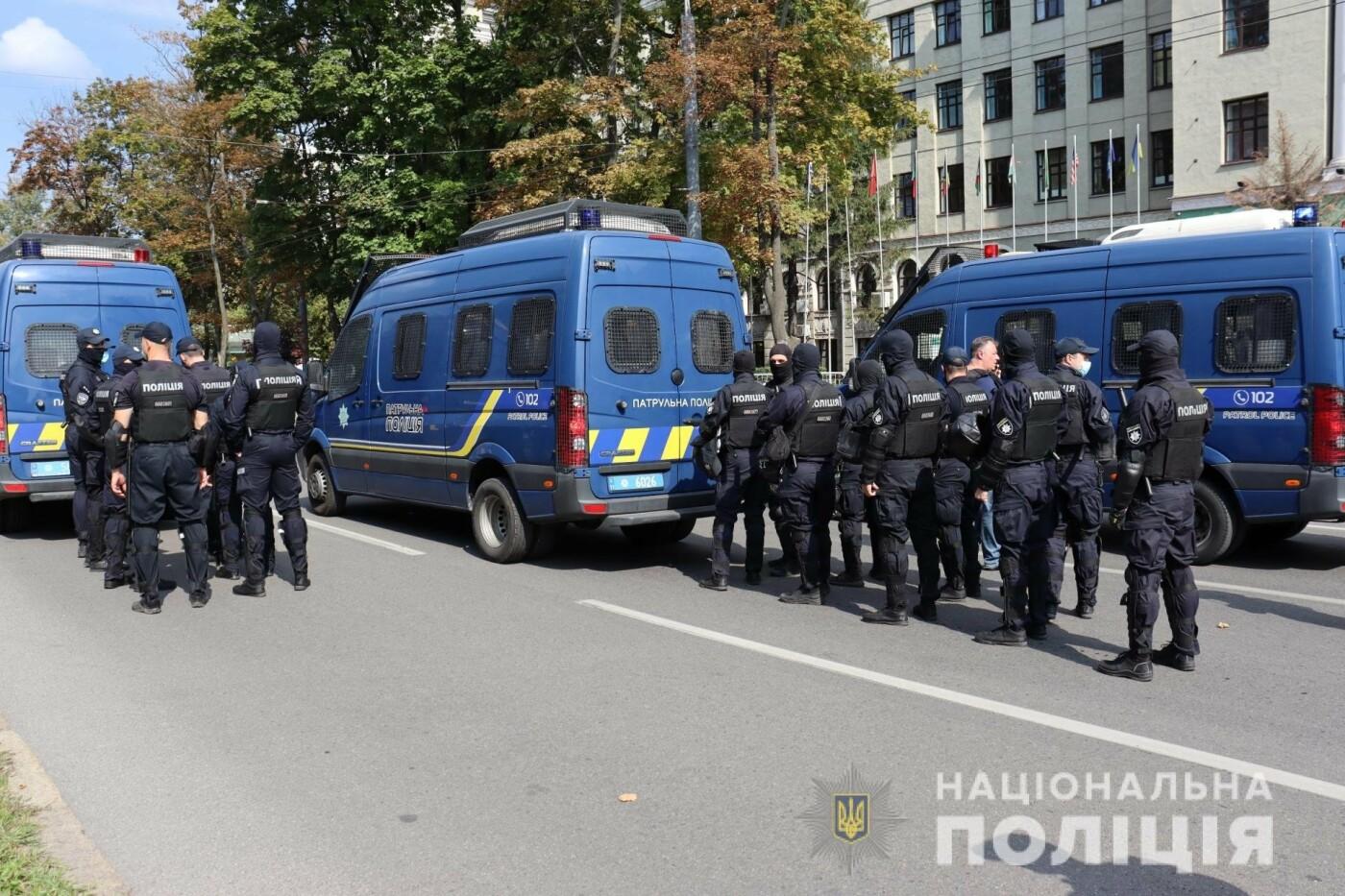 ЛГБТ-марш в центре Харькова: участников события охраняли более 1,2 тысячи силовиков с 40 единицами спецтехники, - ФОТО, фото-2