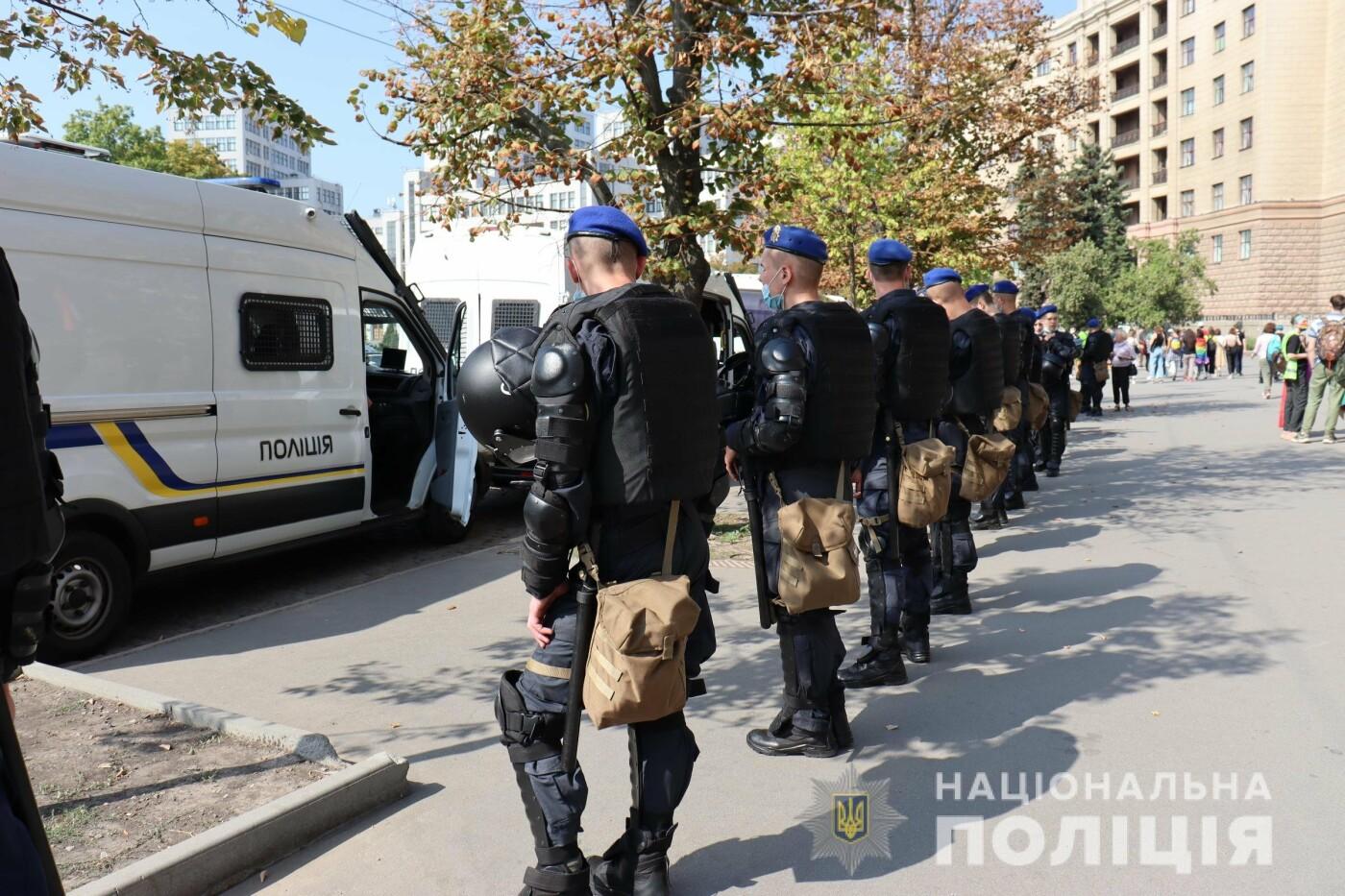 ЛГБТ-марш в центре Харькова: участников события охраняли более 1,2 тысячи силовиков с 40 единицами спецтехники, - ФОТО, фото-6