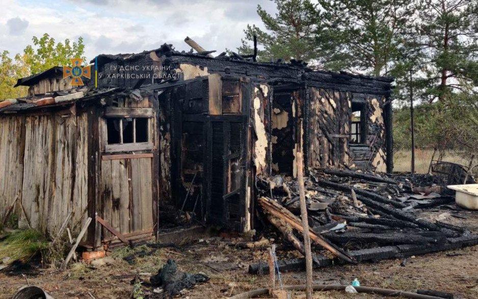 На Харьковщине спасатели четыре часа тушили пожар в частном доме: пожилая хозяйка получила ожоги, - ФОТО, фото-2