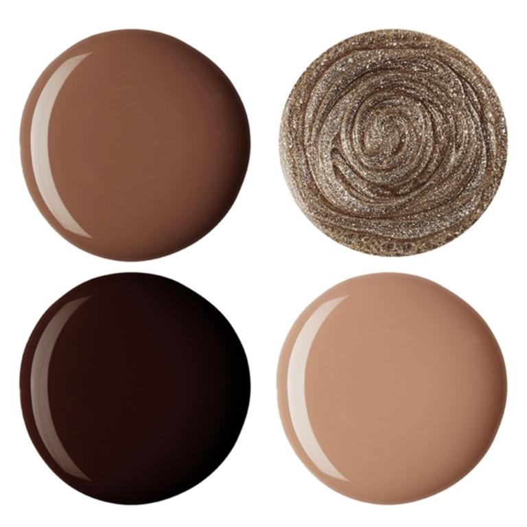 популярные оттенки коричневого для нейл-арта